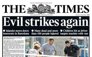 Así recoge la prensa mundial los atentados en Cataluña
