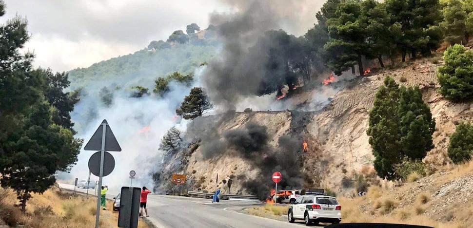 Estabilizado el incendio declarado en la urbanización Buena Vista de Mijas