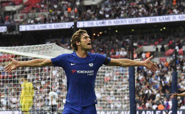 Alonso, tras anotar el 1-2 en Wembley