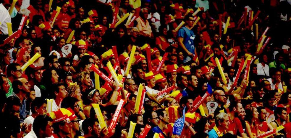 Fiesta de la selección nacional de baloncesto en Málaga