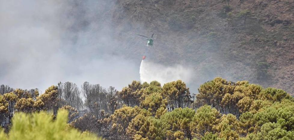 Efectivos del Infoca continúan trabajando en el incendio de Benahavís ya controlado