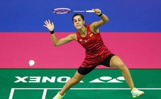 Carolina Marín, en el Mundial de Glasgow.