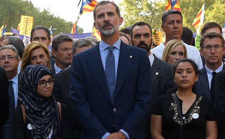 Barcelona se manifiesta contra el terror