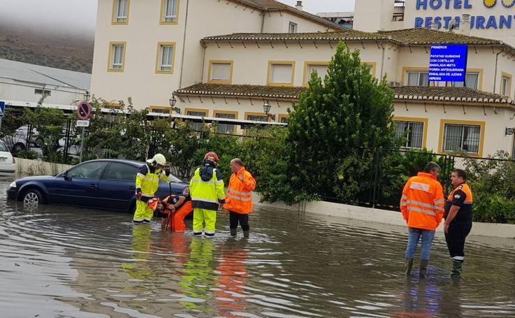 Fotos de la tromba de agua en la provincia de Málaga
