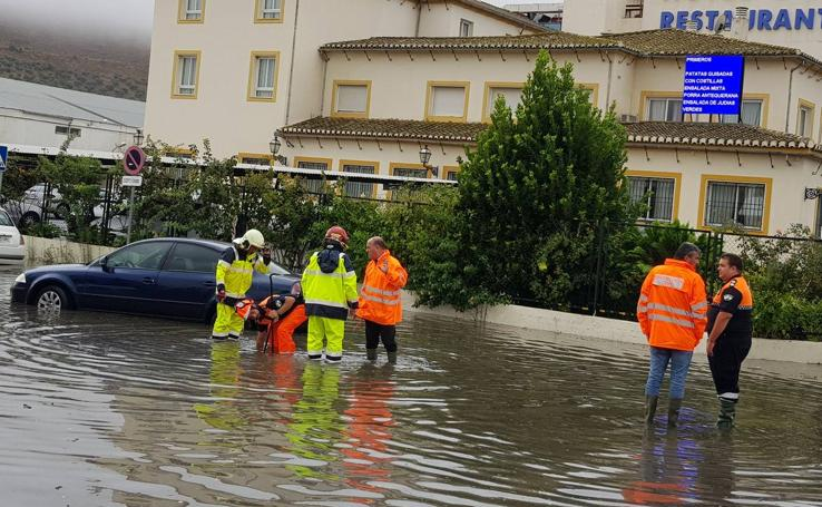 Fotos de la tromba de agua en Málaga