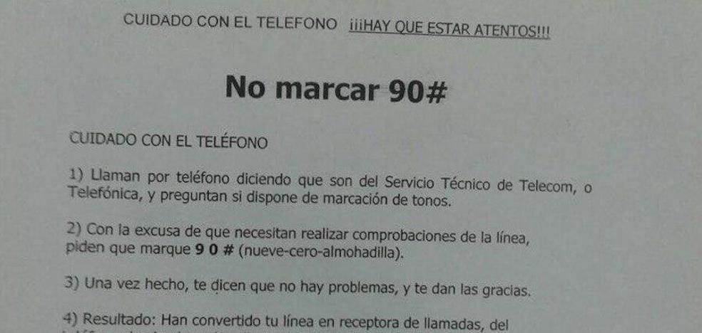 El bulo de la llamada que te pide marcar el 90#