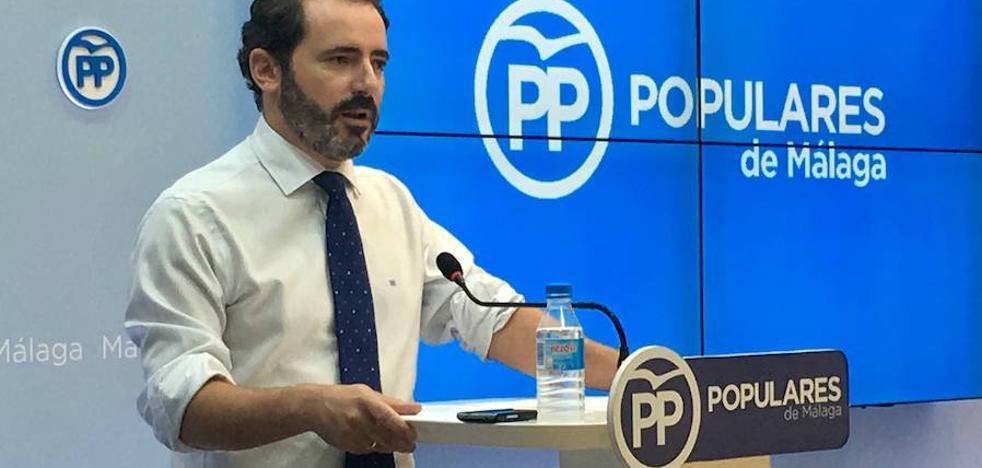 """El PP de Málaga denuncia que la Junta está """"ausente"""" de las inversiones en la provincia"""