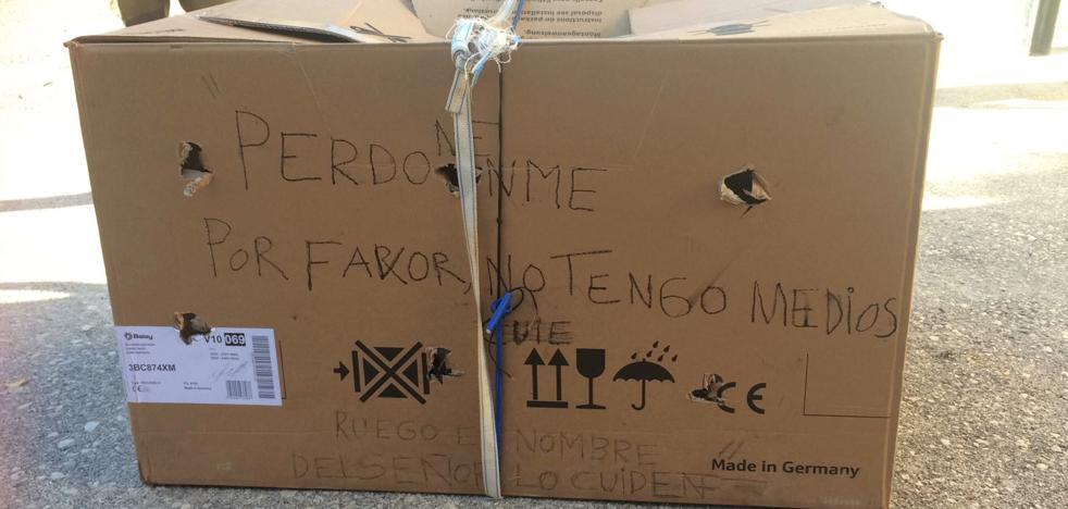 Abandonados en una caja: «Ruego en nombre del Señor que los cuiden, yo no tengo medios»