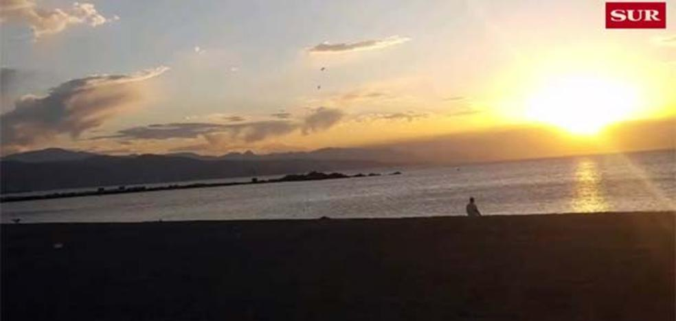 Amanecer en Málaga: timelapse desde Sacaba Beach
