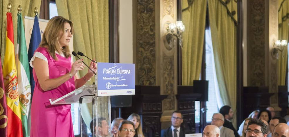 Susana Díaz pone a la industria aeronáutica como ejemplo de colaboración
