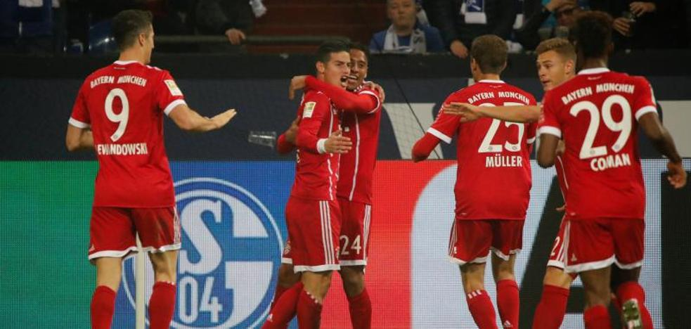 James se estrena como titular en la Bundesliga con un recital