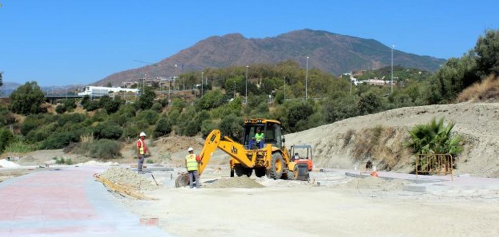 Ejecutadas al 50% las obras de urbanización de La Lobilla en Estepona