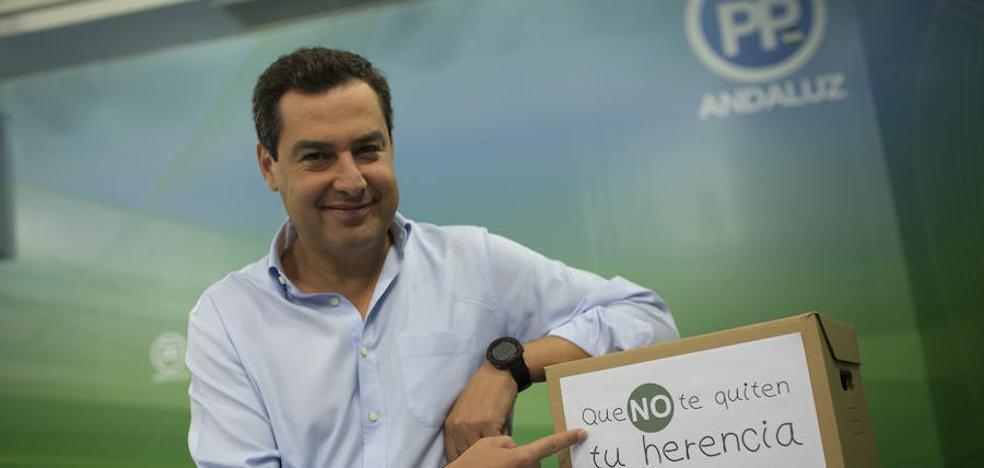 Juanma Moreno anuncia una enmienda para la eliminación total del impuesto