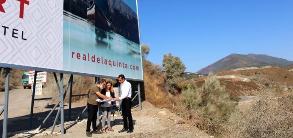 IU critica un proyecto urbanístico en la franja de terreno de la polémica con Benahavís