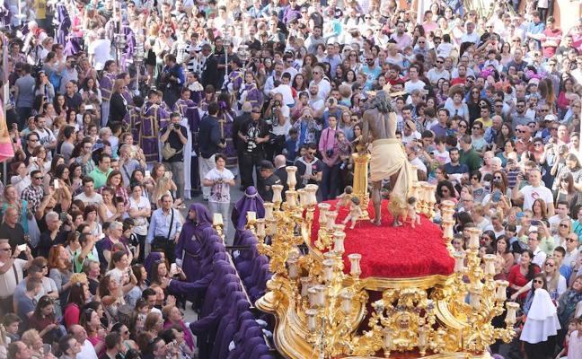 Cinco procesiones marcan la agenda cofrade del fin de semana en Málaga