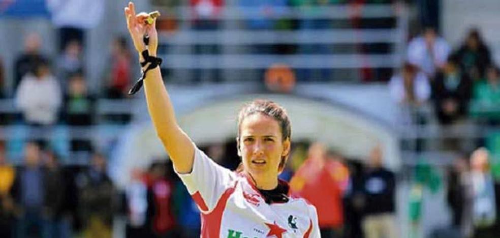 Alhambra Nievas, primera mujer en pitar un partido de rugby de selecciones masculinas