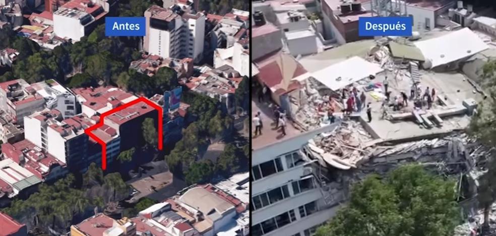 Vídeo: Así estaba y así ha quedado el edificio Álvaro Obregón tras el terremoto de México