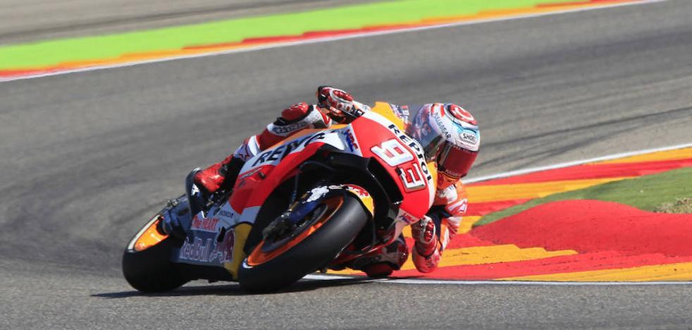 Márquez vence en Aragón y aprieta en la pelea por el Mundial