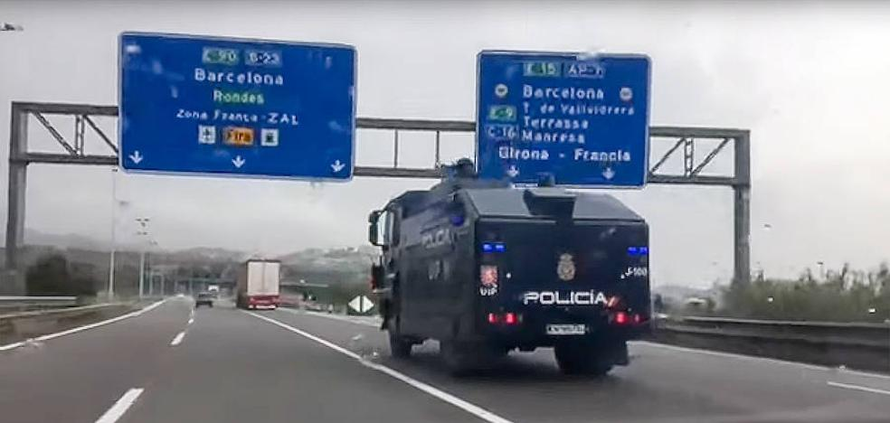 Interior envía a Barcelona al 'camión botijo' antidisturbios que jamás ha usado