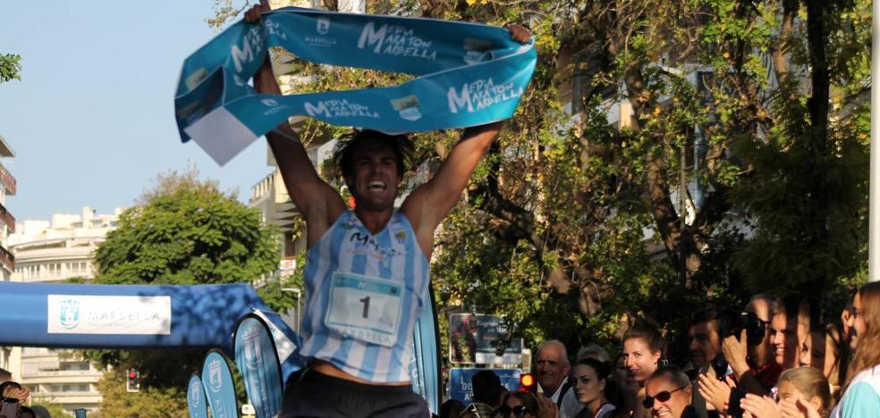 Mario García gana por tercera vez la Media Maratón de Marbella