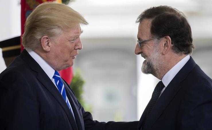 La reunión entre Rajoy y Trump, en imágenes