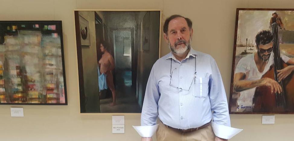 El pintor granadino Eugenio Ocaña, ganador del VIII Premio de Pintura Evaristo Guerra dotado con 3.000 euros