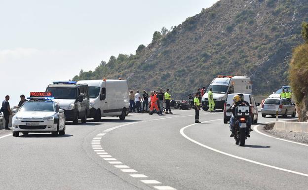 Resultado de imagen de colisión de varias motos