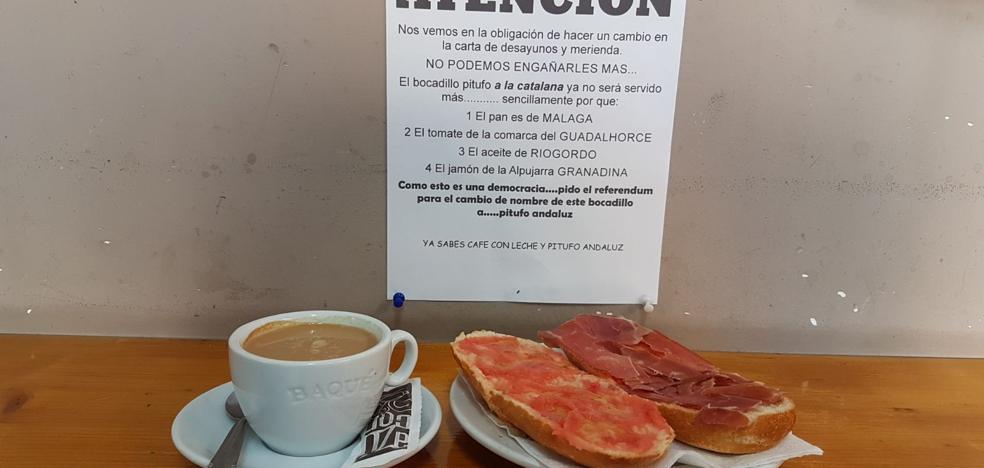 El pitufo de jamón serrano, aceite y tomate ya no quiere ser catalán