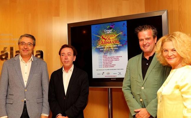 Ocho agrupaciones actuarán en una gala de carnaval en Rincón de la Victoria
