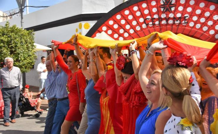 Fotos de la bandera de España más grande del mundo, en Fuengirola