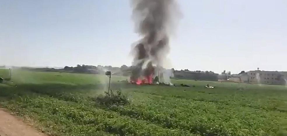 Muere el piloto de un caza del Ejército que se estrelló tras participar en el desfile