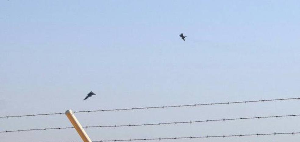 Imágenes previas del accidente que le costó la vida al piloto del Eurofighter