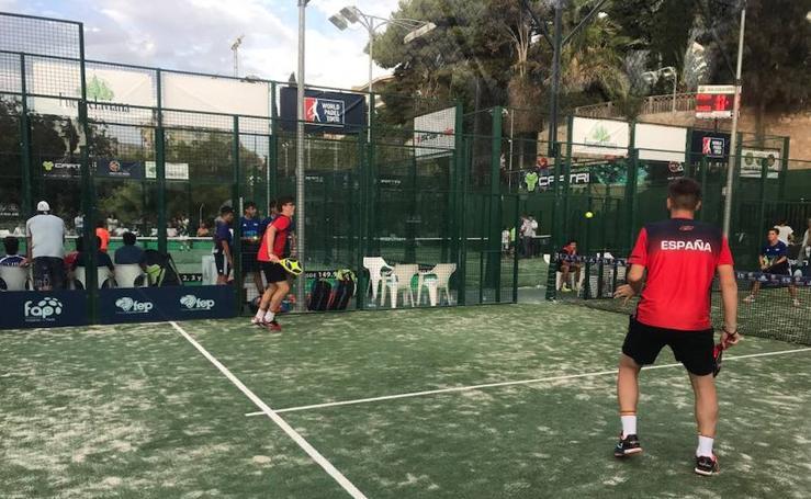 Fotos de la selección de España en el Mundial de Pádel de Menores