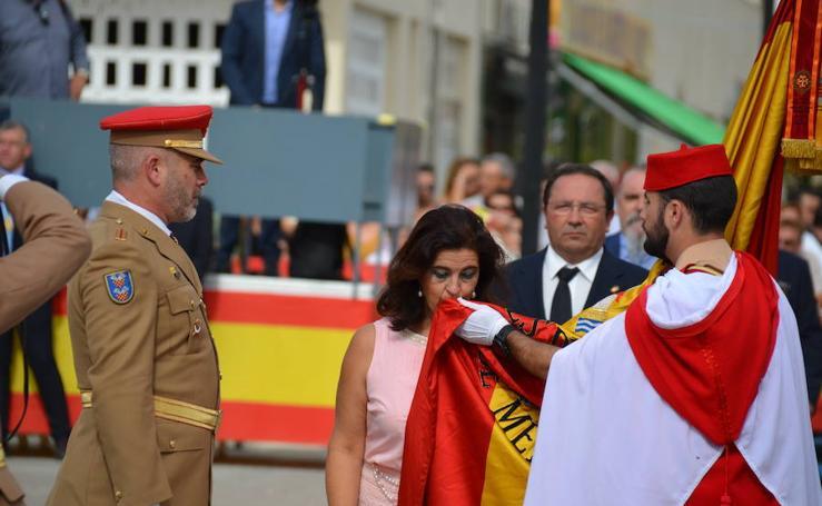 Honores legionarios a la bandera nacional en Vélez-Málaga: así ha sido el acto, en fotos