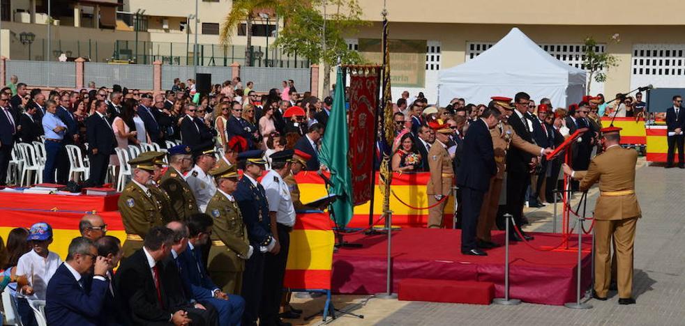 Los guiños malagueños del coronel de los Regulares de Melilla en su discurso