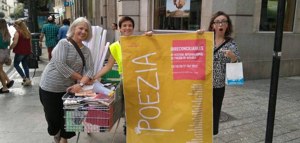 Doce horas de 'poezía' en las calles de Málaga