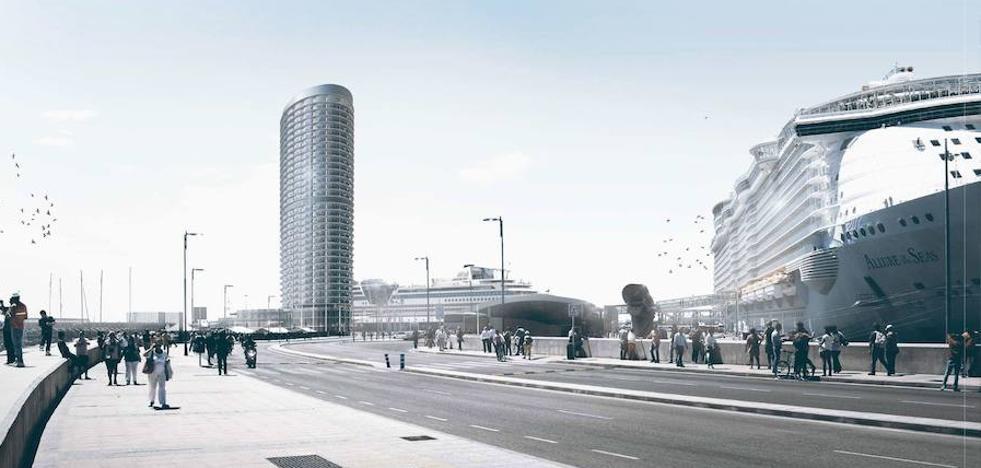 La torre del Puerto de Málaga salva un escollo clave al descartar la Junta su impacto ambiental