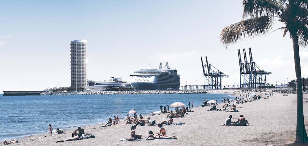 El alcalde de Málaga anuncia una tramitación «rápida» y «ágil» del proyecto de la torre del Puerto