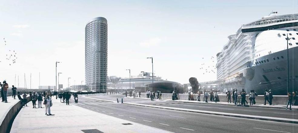 El Ayuntamiento de Málaga aprueba «agilizar» los trámites para el hotel del puerto