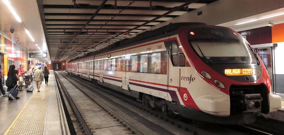 Los trenes entre Torremolinos y Fuengirola no pudieron circular en plena hora punta