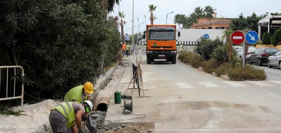 Acometen tres nuevas obras en las redes para evitar inundaciones en Estepona