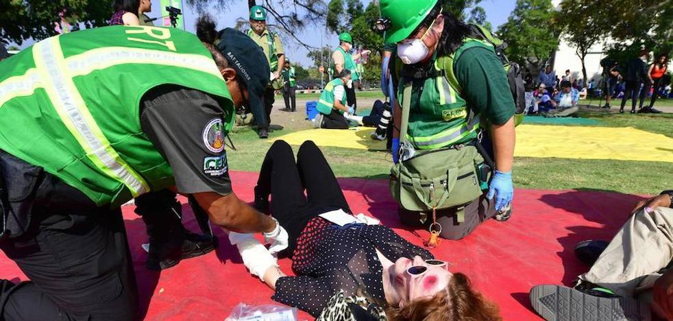 Los Ángeles se entrena para 'el gran terremoto'
