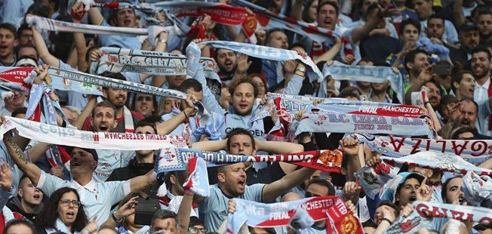 Casi 8.000 aficionados del Celta no podrán ver al Atlético por el cierre de una grada