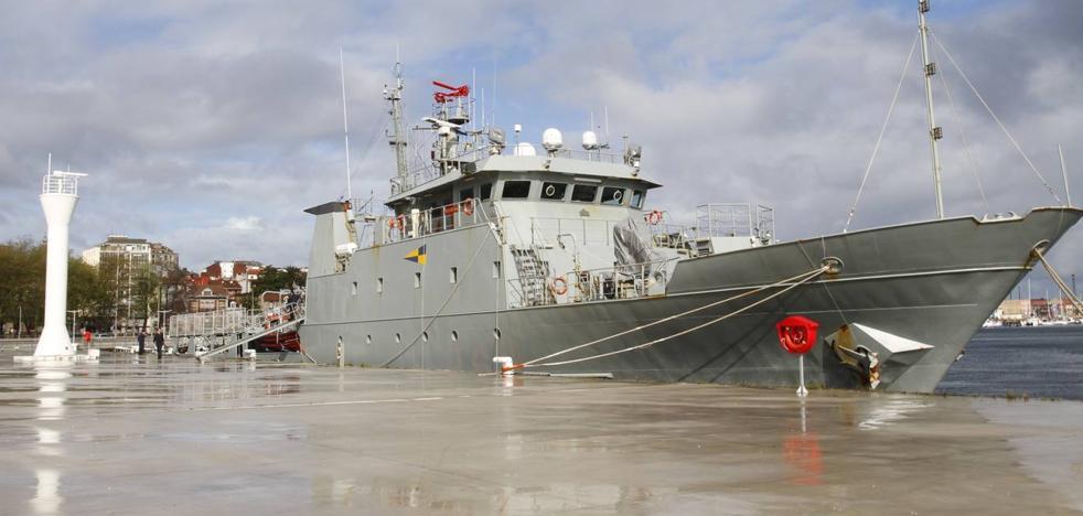 El patrullero de la Armada 'Arnomendi' no se podrá visitar finalmente en el puerto de Málaga