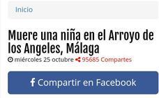 La noticia falsa de la muerte de una menor en Arroyo de los Ángeles que ya circula por Whatsapp