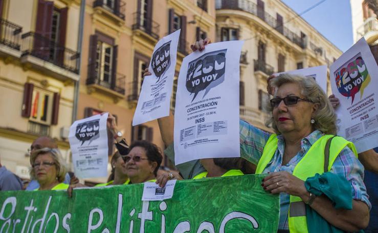 Pensionistas y jubilados se manifiestan en Málaga