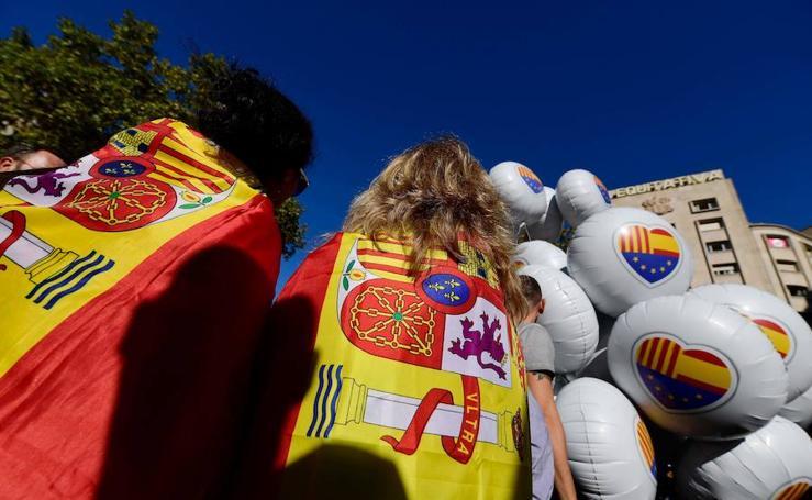 Marcha masiva en Cataluña a favor de la unidad de España