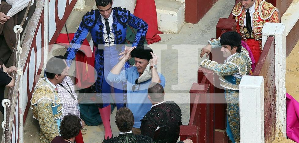 Banderas participa ya en el rodaje del documental sobre Picasso en Málaga