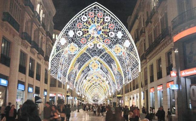 Así será el alumbrado navideño de la calle Larios de Málaga 2017