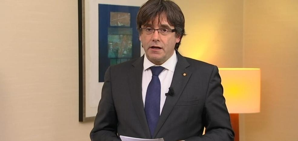 Puigdemont: «Como presidente legítimo, exijo la liberación de los consejeros»